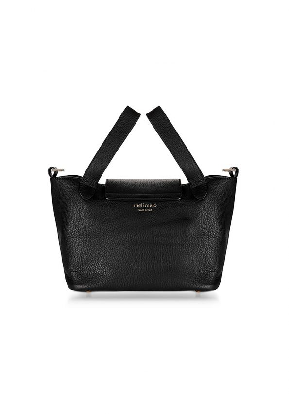 PRINCESSA – Black MeliMelo Black Thela Mini Cross Body Bag – 02