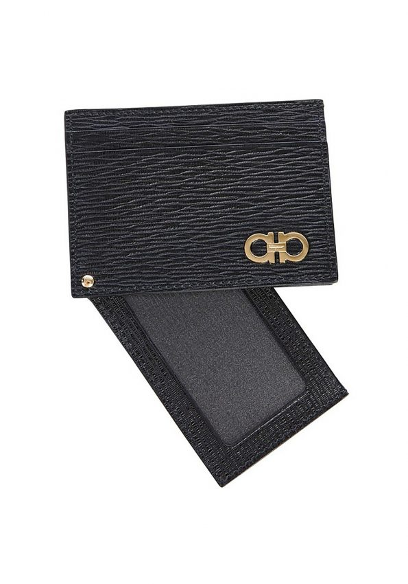 PRINCESSA – Black Salvatorre Ferragamo Gancini Card Holder – 04