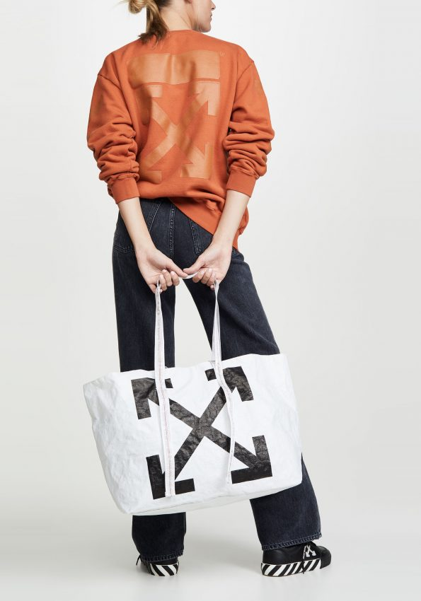 PRINCESSA – BlackWhite OffWhite New Commercial Tote – 02