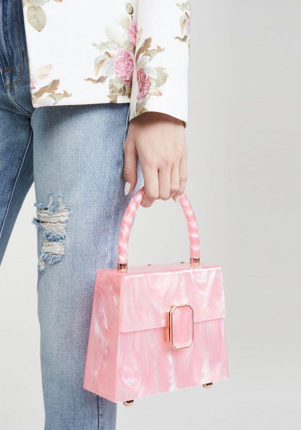 PRINCESSA – Marble Pink Sophia Webster Patti Top Handle Bag – 02