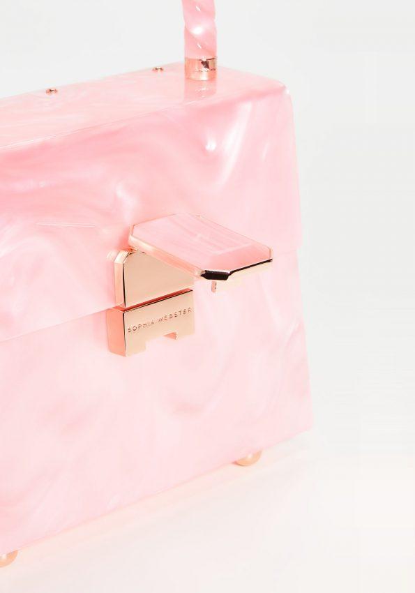 PRINCESSA – Marble Pink Sophia Webster Patti Top Handle Bag – 03